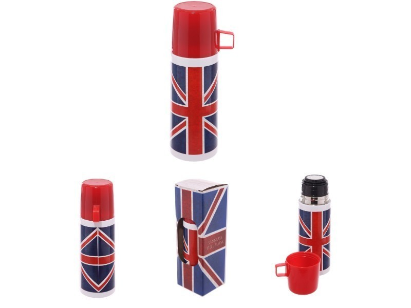 londres thermos en acier inoxydable drapeau anglais uk 350ml vente de puck conforama