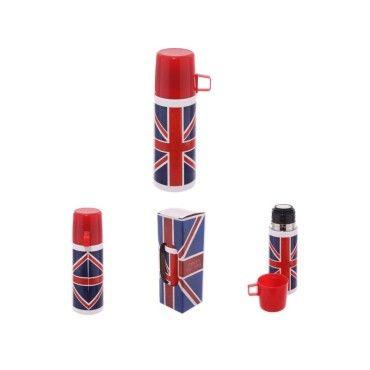 londres thermos en acier inoxydable drapeau anglais uk 350ml vente de puck conforama. Black Bedroom Furniture Sets. Home Design Ideas