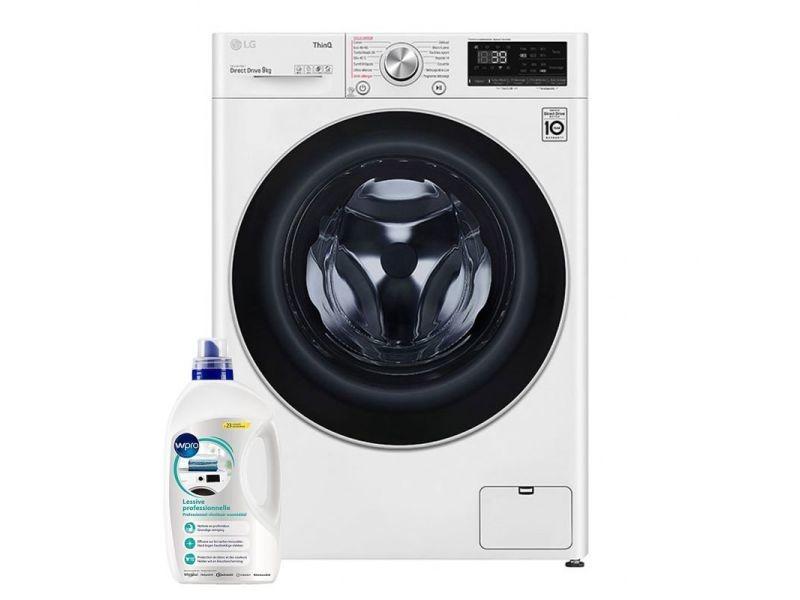 Lg lave-linge frontal 9kg a+++ 1400trs/min connecté wi-fi machine à laver hublot