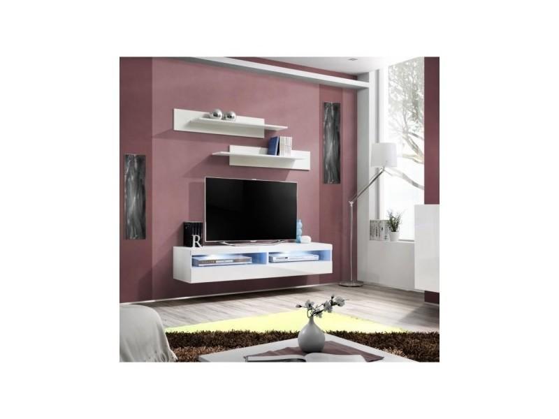 Meuble Tv Fly Design Coloris Blanc Brillant Meuble