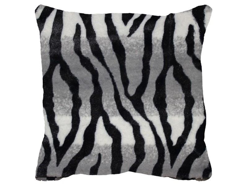 housse de coussin 40 x 40 cm imitation poil zebre congo vente de doucceur d interieur conforama. Black Bedroom Furniture Sets. Home Design Ideas