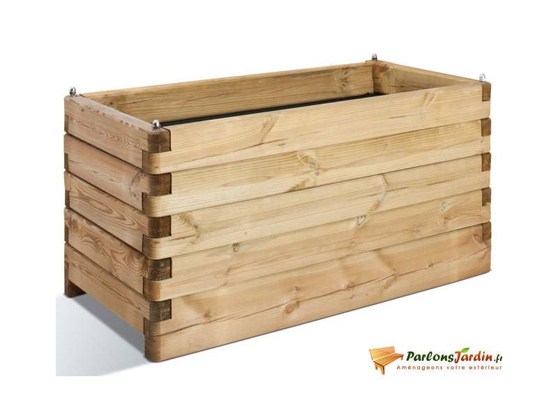 Jardipolys - bac à fleurs en bois rectangle 134l - olea 100 0281252