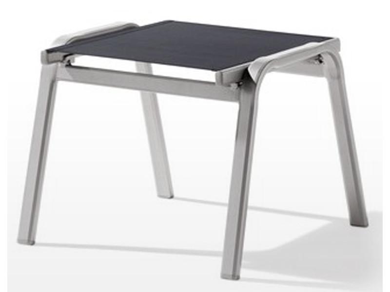 Tabouret de jardin en aluminium graphite/gris - 56 x 57 x 44 cm -pegane-