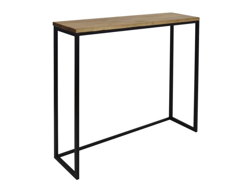 Table haute - mange debout icub - industriel 120 x 30 x 110 cm. Noir ICB3012011030NG-EV