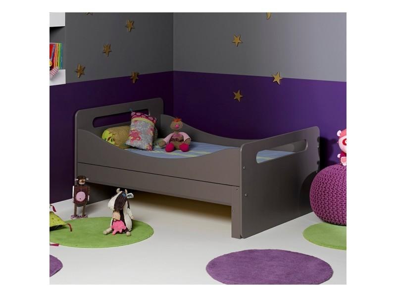 lit enfant volutif f ro taupe 90x140 200 junior. Black Bedroom Furniture Sets. Home Design Ideas