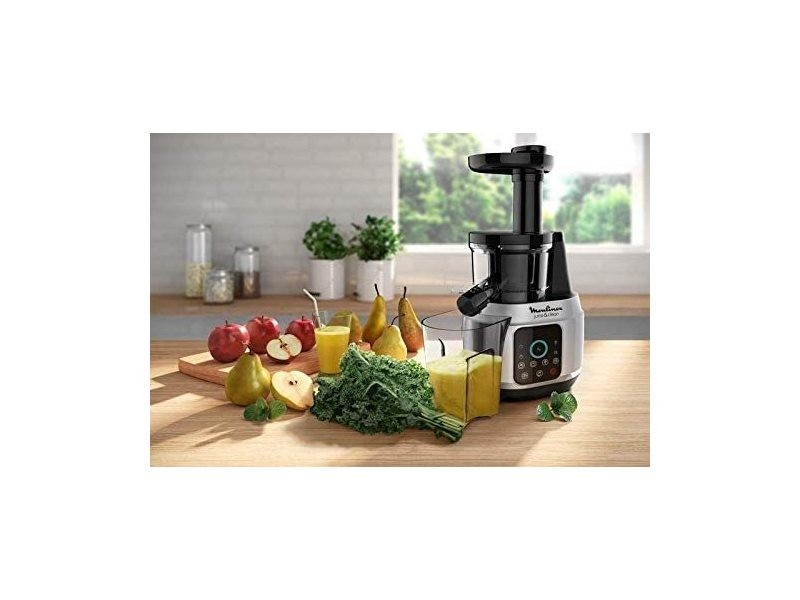 Extracteur de jus pour fruits et légumes 42 à 83 tours/minute 150w gris noir