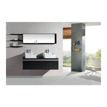 Magnifique ensemble meuble salle de bain complet mercure 2 vasques 2 ...