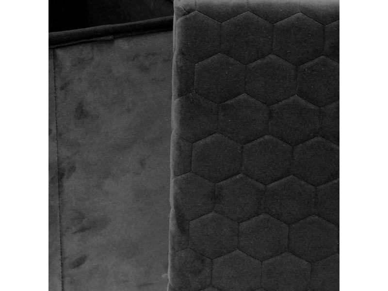 Coffre banc pliable velours noir assise relief Vente de