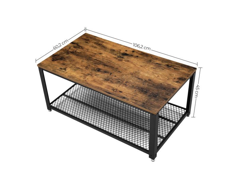 Table basse vintage Table de salon Bout canapé Armature métallique café  LCT61X