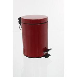 Poubelle en métal - rouge