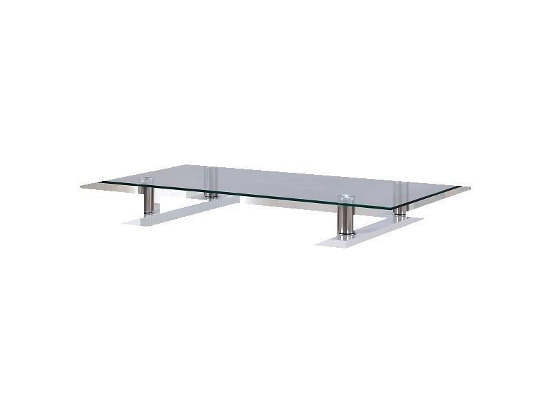 Table basse blanche laqu e avec plateau en verre vente de table basse conforama - Conforama table basse blanche ...