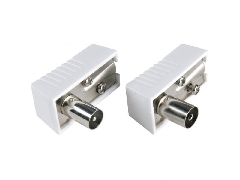 Kit connecteur mâle-femelle d'antenne iec