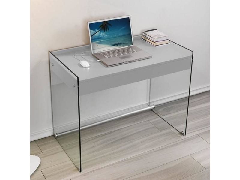 bureau verre tremp bureau ordinateur en verre conforama bureau id es de d coration de maison. Black Bedroom Furniture Sets. Home Design Ideas