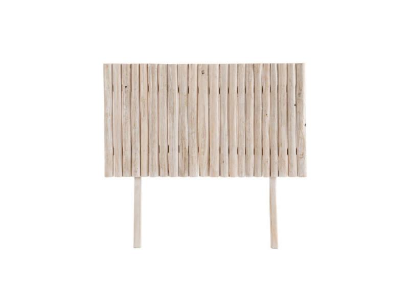Tête de lit bois blanc cassé - pyla - l 140 x l 10 x h 130 - neuf