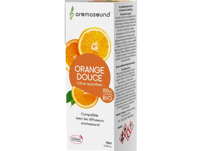 Synergie huiles essentielles aromasound parfum orange douce 10 ml