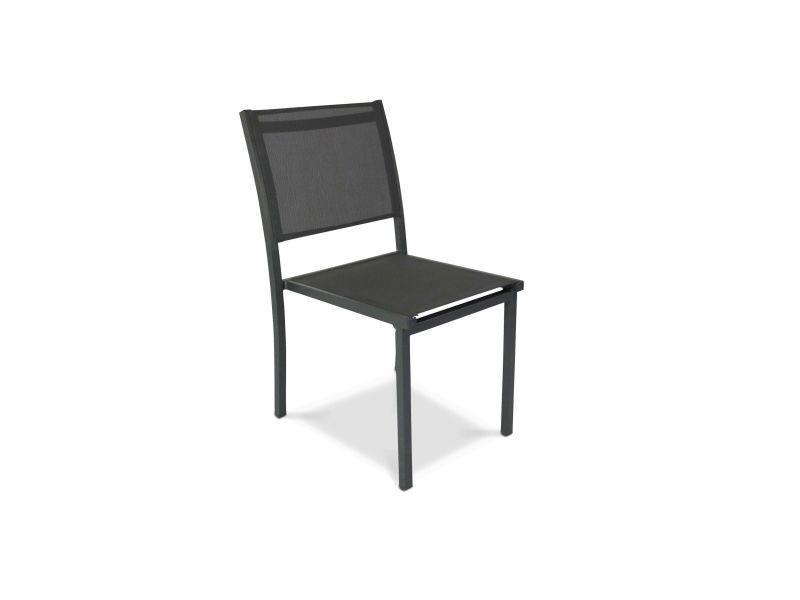 Chaise de jardin en aluminium et textilène