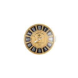 Horloge murale effet bois - mdf - ø80x5 cm - style classique et industriel  - 1 9a2cd157bc3e