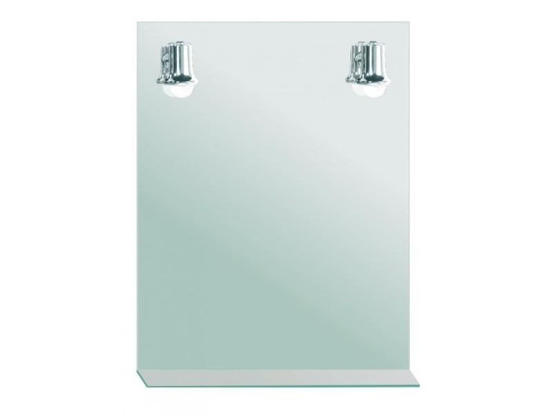 Miroir de salle de bains avec éclairage fluo-compacte - 2 spots - 79 ...