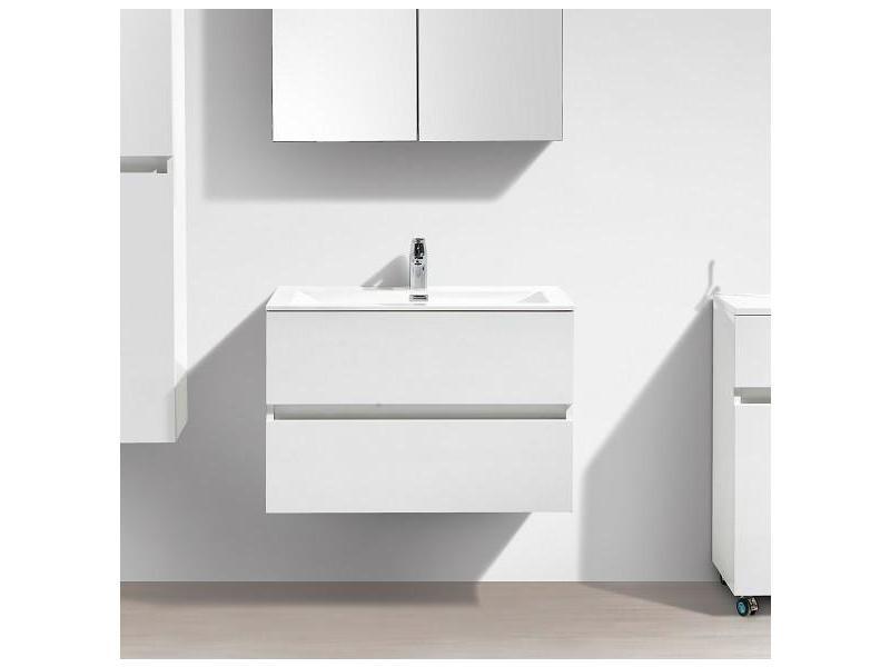 meuble salle de bain design simple vasque siena largeur 80 cm blanc laqu vente de salle de. Black Bedroom Furniture Sets. Home Design Ideas