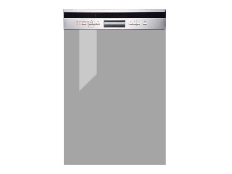 Façade de cuisine pour lave-vaisselle semi-intégrable - l 59,6 cm - gris brillant