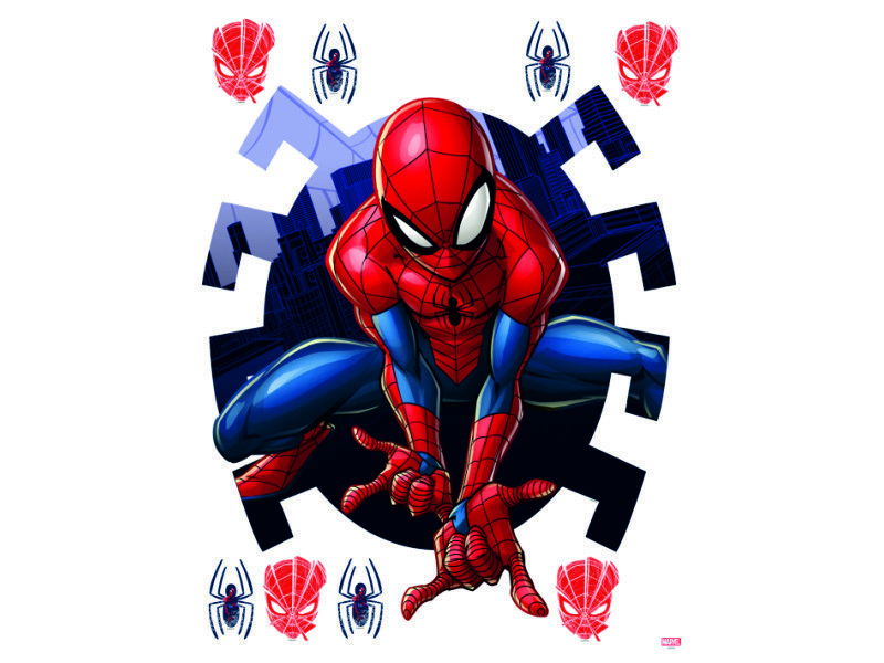 Ag Design Sticker Mural Disney Autocollant Spider Man Marvel