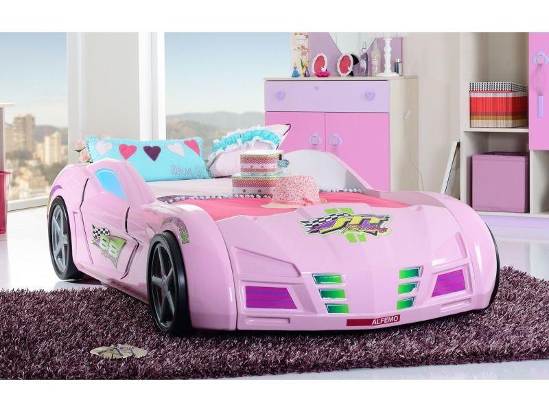 lit voiture de course 90x200 formule1 coloris rose vente de comforium conforama. Black Bedroom Furniture Sets. Home Design Ideas