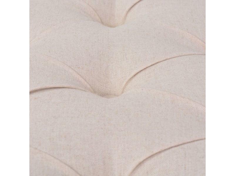 Vidaxl banc lin bois massif 150 x 40 x 48 cm blanc crème 245361
