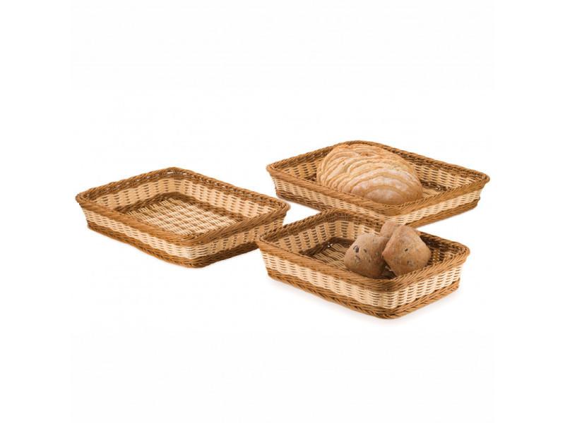 Corbeille à pain rectangulaire bicolore l 37 à 46 cm - pujadas - polypropylène 42 x 30 cm