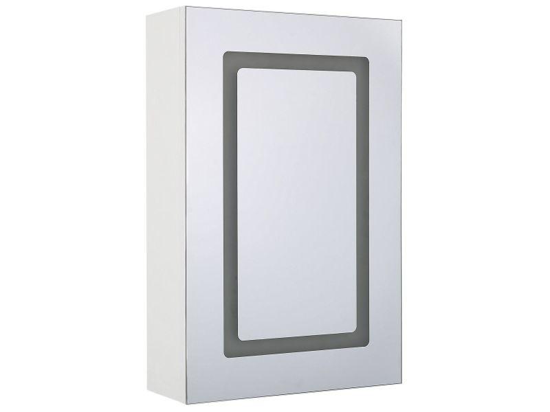 Armoire de toilette blanche avec miroir et led 40 x 60 cm condor 232780