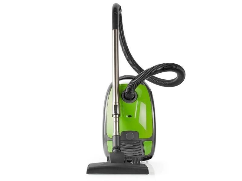 Aspirateur compact avec sac 3.5 l vert 700 w silencieux 74db rayon d'action 8m
