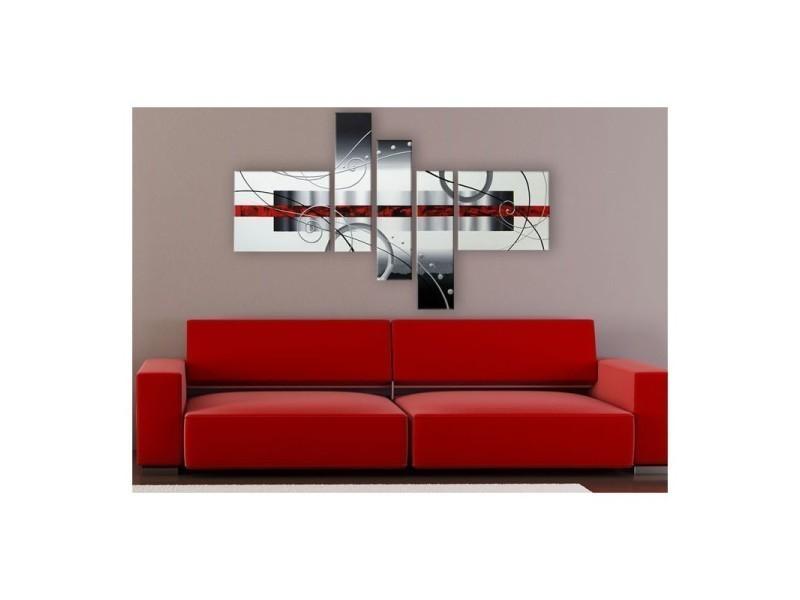 Tableau peinture red line (175 x 90 cm) - Vente de Toile ...