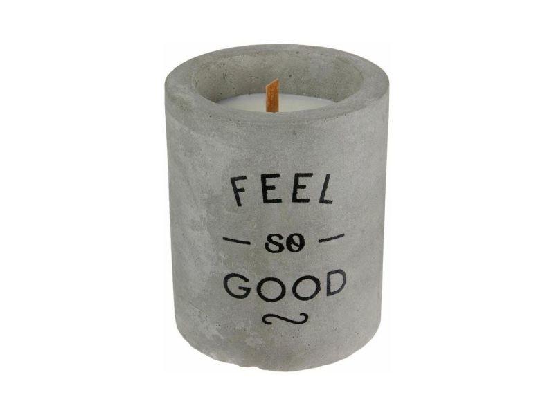 Bougie senteur linge frais pot en ciment feel so good