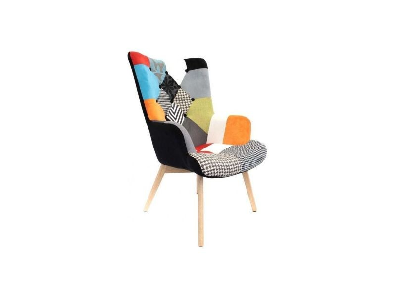 fauteuil design color patchwork vente de the home deco. Black Bedroom Furniture Sets. Home Design Ideas