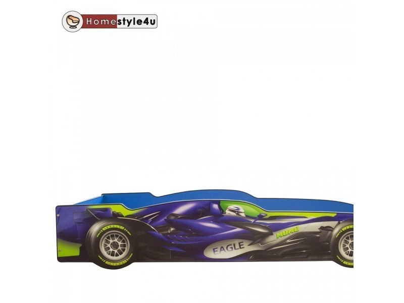 lit simple 90x200 voiture de course bleu 1593 vente de lit enfant conforama. Black Bedroom Furniture Sets. Home Design Ideas