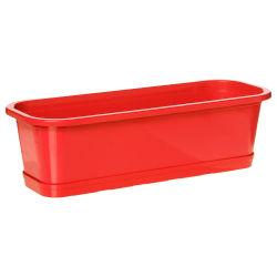 Jardinière ansania - l. 50 cm. - rouge