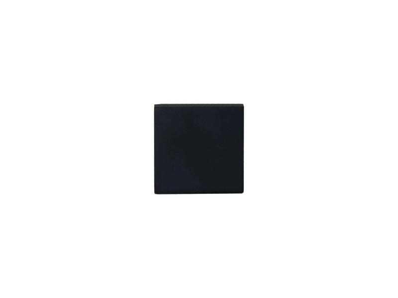 Rosaces carrées borgnes - aluminium anodisé noir x2 R4014NO