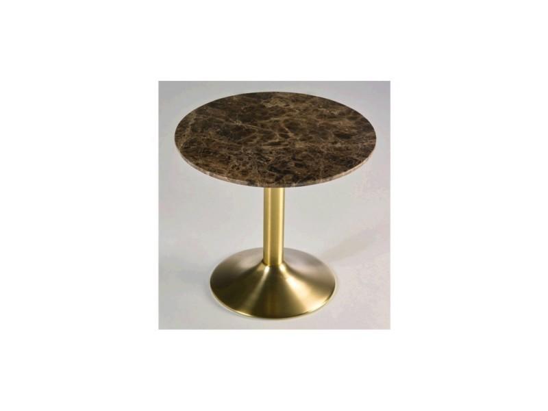 Table d'appoint plateau rond marbre aura