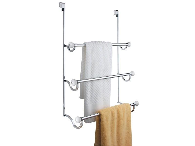 porte serviette suspendre 3 barres interdesign york vente de interdesign conforama. Black Bedroom Furniture Sets. Home Design Ideas