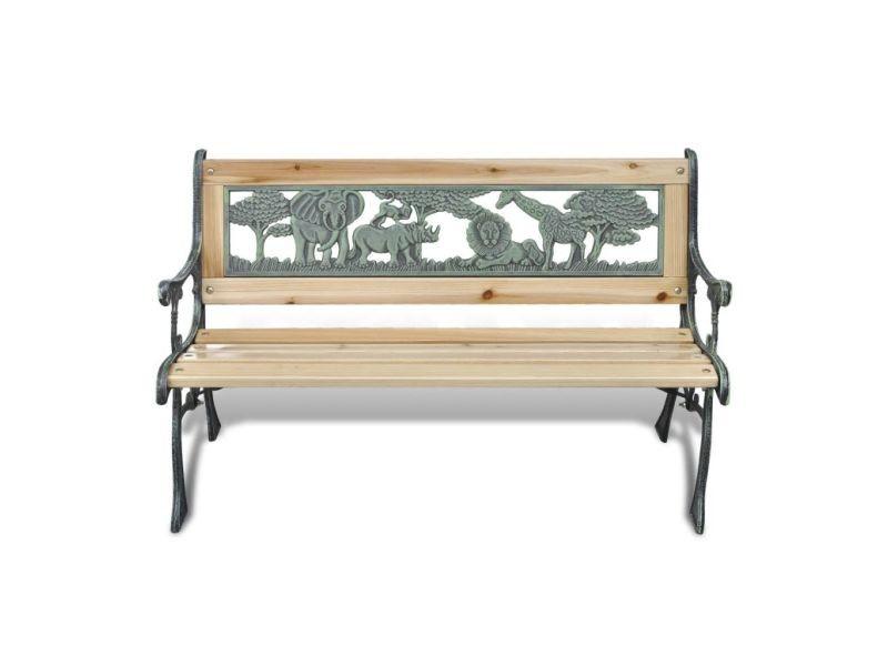 Icaverne - bancs d'extérieur categorie banc de jardin pour enfants design animaux 80 x 24 cm