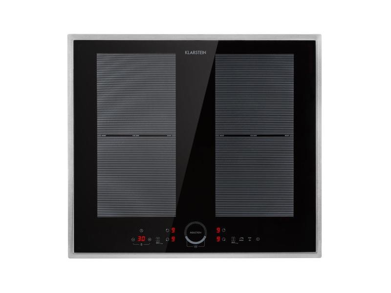 Klarstein delicatessa 60 prime - plaque de cuisson á induction encastrable 4 zones, vitrocéramique - noir