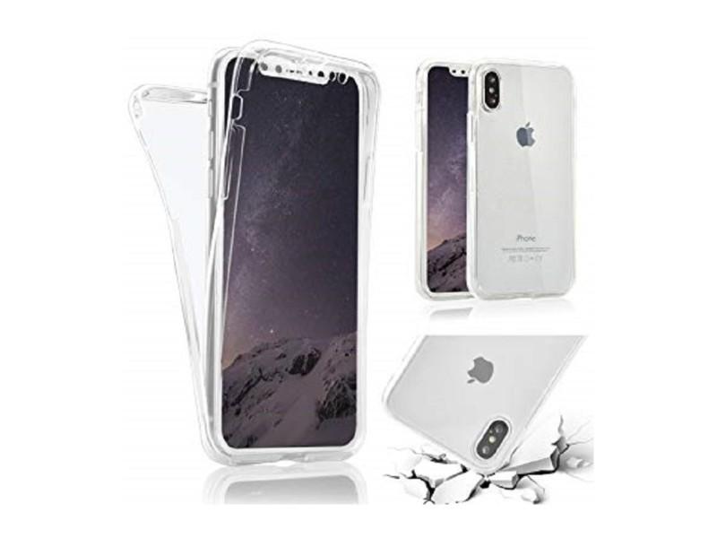 Pour iphone x et xs coque étui rigide transparent anti choc plastique dur
