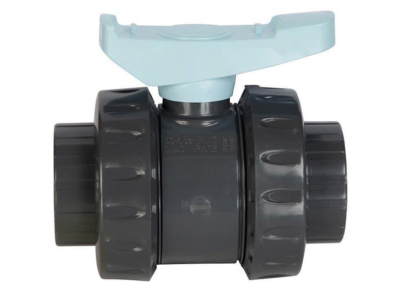 Vanne pvc astore double union à coller 50mm pn16 - ast50 ast50