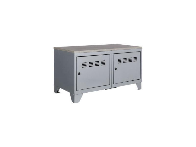 Meuble bas industriel métal - Vente de PIERRE HENRY - Conforama