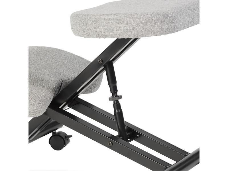 Tabouret ergonomique robert si ge ajustable repose genoux - Siege sans dossier ergonomique bureau ...