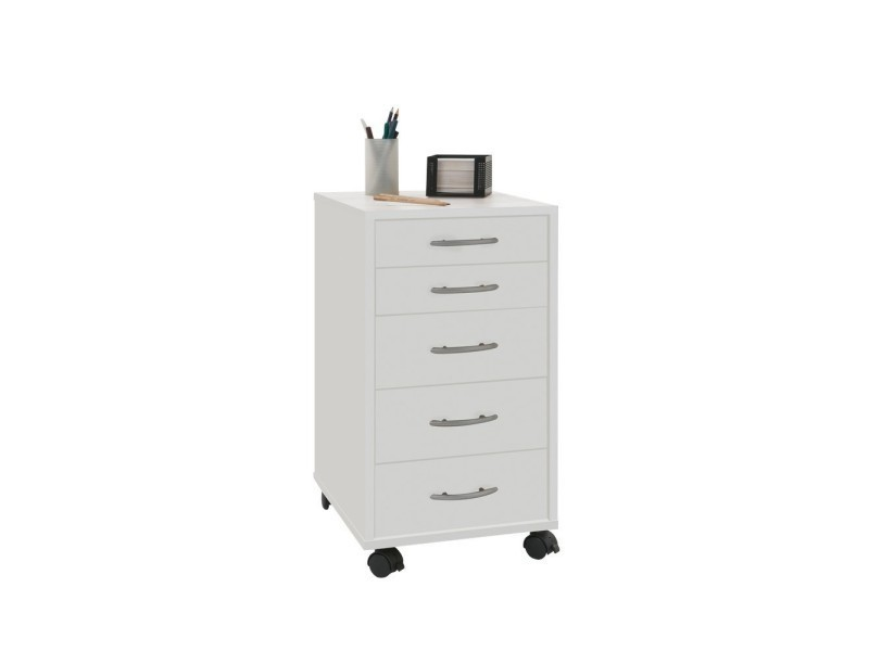 freddy caisson de bureau sur roulettes blanc vente de. Black Bedroom Furniture Sets. Home Design Ideas
