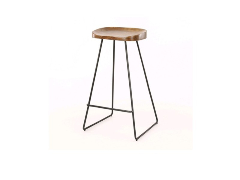 Tabouret de bar bois - l:37 l:29 h:71 - baakal and ross