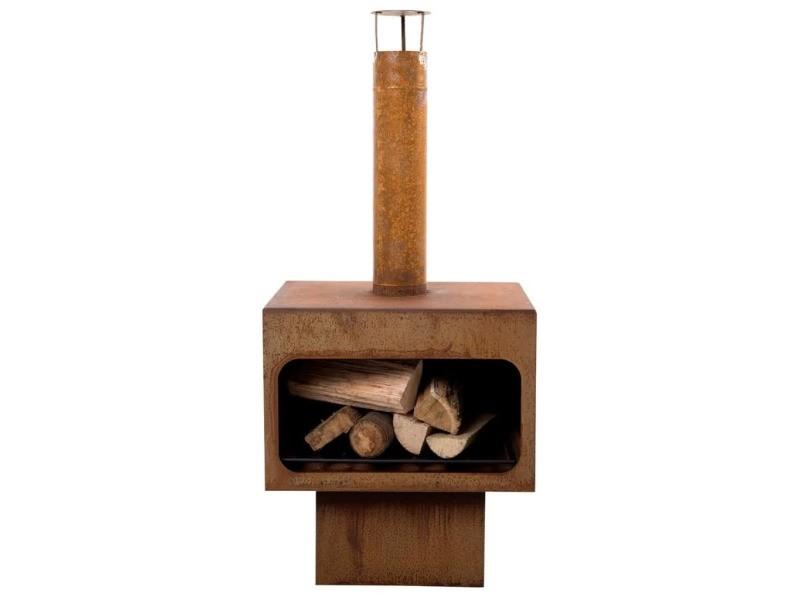 Icaverne - cheminées selection redfire cheminée jersey xl acier rouille 81077