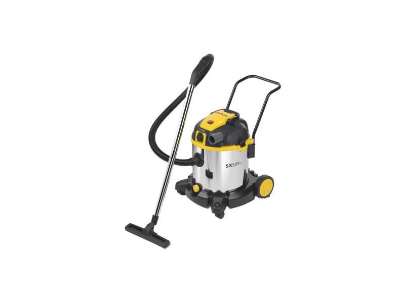 Aspirateur eau et poussiere 1600 w cuve 50 l en inox avec prise pour outil électroportatif SXVC50XTDE51697