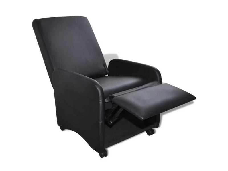 Icaverne - fauteuils club, fauteuils inclinables et chauffeuses lits reference fauteuil pliable cuir synthétique noir