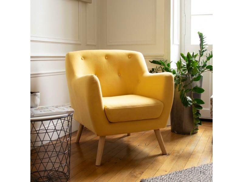 fauteuil scandinave en tissu jaune moutarde vente de tous les fauteuils conforama. Black Bedroom Furniture Sets. Home Design Ideas